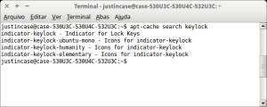 apt-cache search keylock