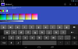 captura de tela (screenshot) Terminal Emulator for Android
