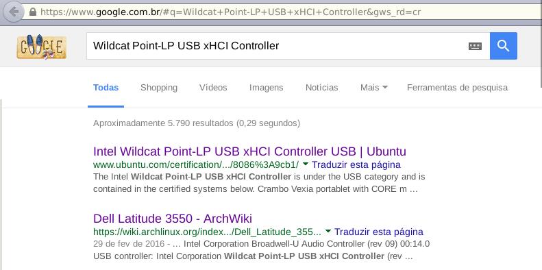 Busca do google por nome do dispositivo