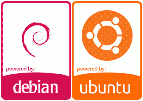 Debian & Ubuntu badges together
