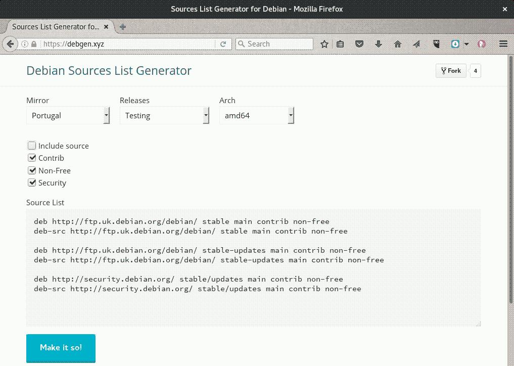 debian.xyz sources list generator