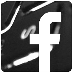 facebook icon over keyboard