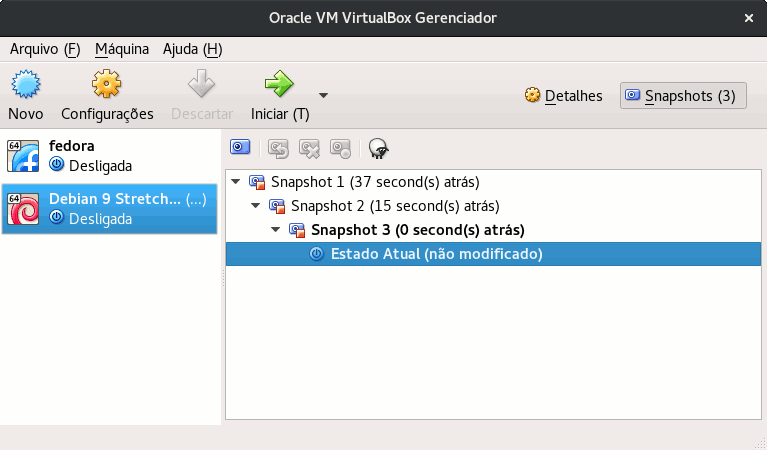 virtualbox snapshot list